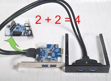 2 Port USB 3.0 PCI Express PCI-E Card+2 Port USB 3.0 Front Panel Expansion Bay