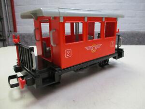 Playmobil Spur G, Anhänger, Personenwagen, rot, 2. Klasse, für Modelleisenbahn