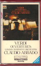 "CLAUDIO ABBADO "" VERDI OUVERTURES "" MUSICASSETTA NUOVA RCA DIGITALLY"