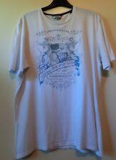 Weißes Shirt Kurzarm mit blau/grauem Druckmotiv Gr. XL von Esprit
