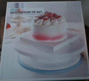 Cake Decoration Tip Set Drehbarer Tortenteller mit Zubehör Tortenplatte
