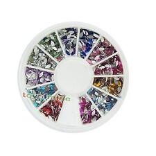 120X Glitter Oval Fimo Nail Art Tips UV Acrylic Decoration Wheel