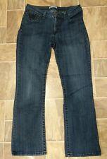 Lee Slender Secret Lower on the Waist Jeans Size 14 Medium Embroidered Pockets