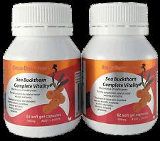 Skin Regeneration-Sea Buckthorn capsules (2x60 caps), reduce wrinkles