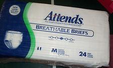 "24 Adult Medium 32-44"" waist Disposable Briefs diapers baby Attends absorbent"