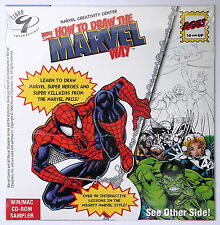 HOW TO DRAW THE MARVEL WAY & DINO FINDERS NEW & SEALED PROMO PC/MAC CD-ROM 1996
