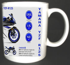 Yamaha YZF R125 Classic Motorbike Mug. Limited Edition All Year Colours