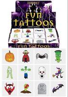 72 Halloween Temporary Tattoos (6 Bags Of 12) - Pinata Loot/Party Bag Fillers Ki