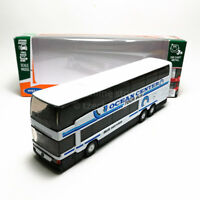 Welly 1:64 Die-cast Mercedes-Benz MB 0 404 DD Super Coach Express Bus White Mode