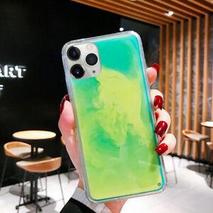 Luminous Dynamic Glow Neon Sand Quicksand Hybrid Phone Case Liquid Glitter Cover