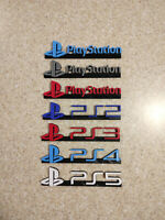 REVISED PlayStation red blue video game logo sign accessory 3d printed 8in