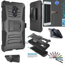 ZTE Grand X Max 2 Z963U Hybrid Holster Case Cover Stand Belt Clip + GS