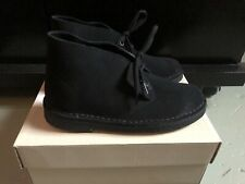 Clarks Desert Boots Black Suede Women UK 4,5