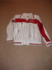 St Louis Cardinals White Adult Shiny Track Jacket by G-111 Apparel - w/tags, XL