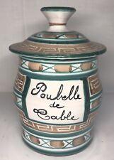 Poubelle De Table Signée R.P. Robert Picault Vallauris Vintage H 15 L 17 l 11 Cm