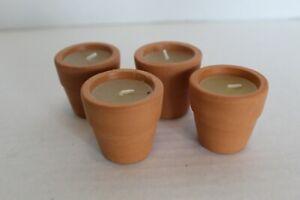 Mini Terra Cotta Pot Candles Set of 4