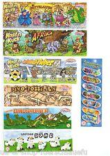 7 verschiedene BPZ von Ravensberger aus 7 Serien Fremdfiguren Beipackzettel