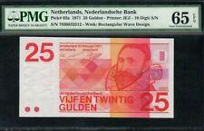 1971 NETHERLANDS 25 Gulden PMG65 EPQ GEM UNC [P-92a]