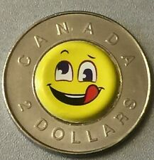 $2 DOLLAR CANADA SMILEY FACE UNGRY TOONIE COIN CIRCULATED RANDOM DATE