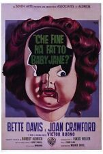 WHATEVER HAPPENED TO BABY JANE? Movie POSTER 27x40 C Bette Davis Joan Crawford