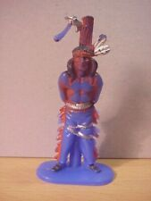 Jean Hoefler/Höfler - INDIAN TIED TO POLE - Blue/Painted