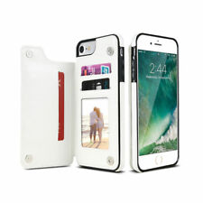 iPhone X & 8/7/6s Plus Leather Wallet Back Magnetic Flip Cover Thin Stand Case