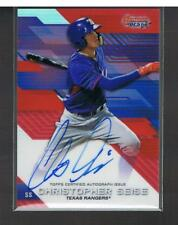 2017 BOWMANS BEST CHRISTOPHER SEISE RED REFRACTOR AUTO 6/10 AUTOGRAPH - ON CARD