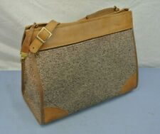 * CUTE * VINTAGE HARTMANN LUGGAGE SHOULDER TOTE LINED BROWN LEATHER
