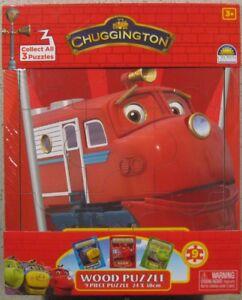 CHUGGINGTON FRAMED 9 PIECE WOODEN PUZZLE/JIGSAW - WILSON ** BRAND NEW **