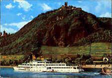 Rhein Schifffahrt Postkarte Dampfer Schiff Loreley passiert Burg Drachenfels