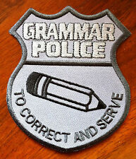 Grammar Police Badge Patch (w/ pencil)