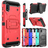 For Samsung Galaxy A10e Case Shockproof Belt Clip Holster Stand Armor Full Cover