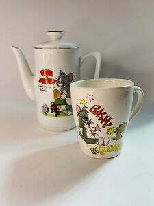 Tom & Jerry Small Cup and Childs Tea Pot Metro Goldwyn Mayer Inc 1970
