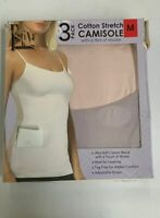 NEW Felina Ladies' Cotton Stretch 2-Pack Camisole-VARIETY