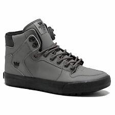 Supra Men's Vaider Cod Weather Hi Top Sneaker Shoes Charcoal-Black Footwear W...