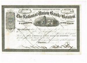 The National Union Bank of Boston, 1881, nice, VF