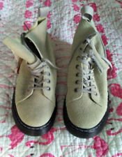 Dr Doc Martens TALIB WOOLY BULLY 8 Eye Suede Boots Gray 10 Mens 11 Womens NWTs