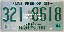 New Hampshire  Old Man  License Plate  original US Nummernschild Originalbild