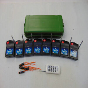 8 Cues Fireworks Firing System 8 key Wirelss Switch Special Effect Happiness CE