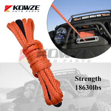 10mm x 10m Dyneema Extension Orange Winch Cable for SUV ATV Truck Boat Marine