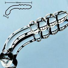 plug anal en verre pyrex gode godmichet rosebud pénis sex toys cristal perles
