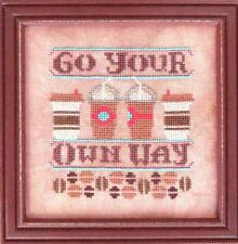 """GO YOUR OWN WAY"" #2  Cool Beans-  Cross Stitch Chart from Hands On Design"
