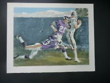 Merv Corning Superbowl XI Signed and Numbered Lithograph