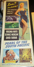 PEARL OF THE SOUTH PACIFIC! '55 VIRIGINIA MAYO PIN-UP RARE INSERT FILM POSTER!