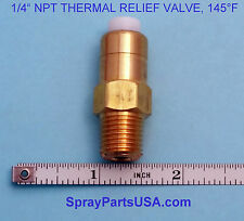 "1/4"" NPT THERMAL RELIEF VALVE FOR PRESSURE WASHERS, 145°F"