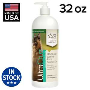 UltraCruz Canine Pure Salmon Oil Supplement for Dogs, 32 oz
