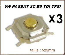 3  BOUTONS SWITCH 5 x 5 VOLKSWAGEN  PASSAT 3C B6 TDI TFSI