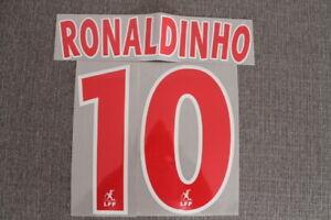 Flocage RONALDINHO n°10 rouge PSG  patch shirt Paris Saint Germain maillot