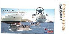 PITCAIRN ISLANDS 2003 BLUE STAR LINE FDC MS636
