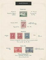 australia 1929 - 36 mounted mint and used stamps on page  ref r12935